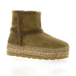Vidoretta Boots cuir velours camel