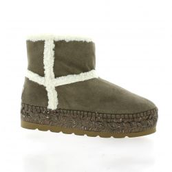 Vidoretta Boots cuir velours taupe
