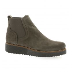 Vidi studio Boots cuir velours taupe
