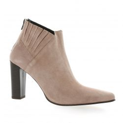 Pao Boots cuir velours poudre