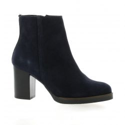 Impact Boots cuir velours marine