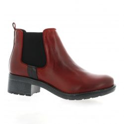 Iber Boots cuir rouge