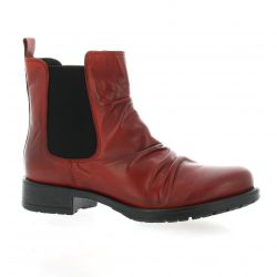 Creator Boots cuir rouge