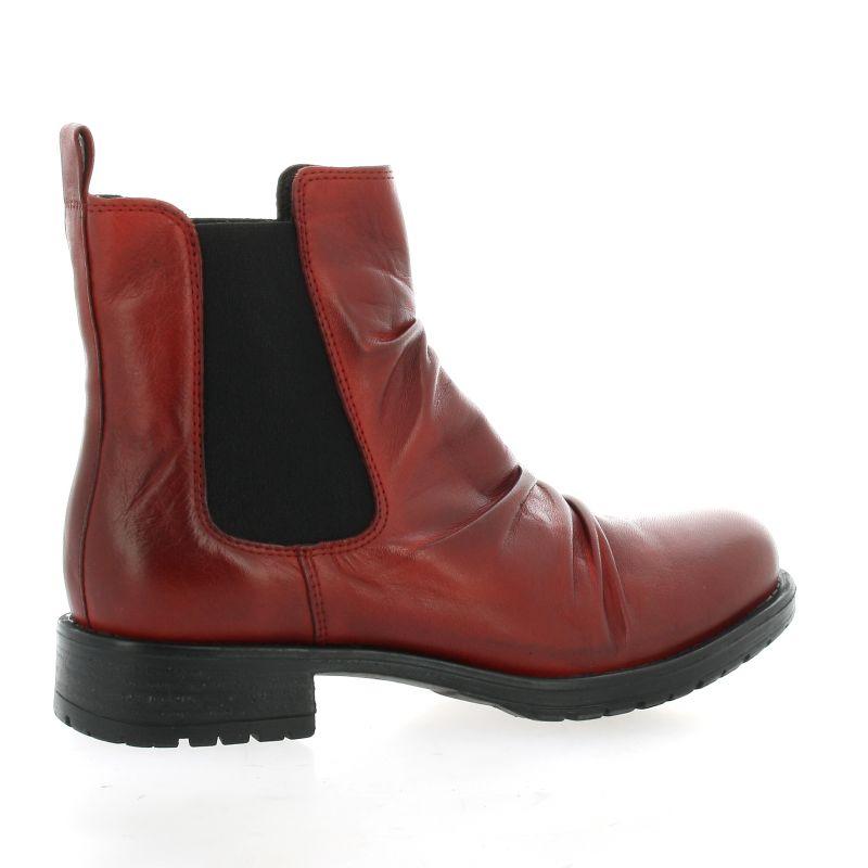 nouvelle sélection classique chic beau lustre Boots Creator cuir rouge chaussures chelsea IB18215