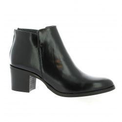 Pao Boots cuir glacé noir