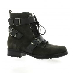 Reqins Boots cuir velours anthracite