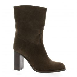 Giancarlo Boots cuir velours marron