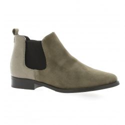 So send Boots cuir velours taupe
