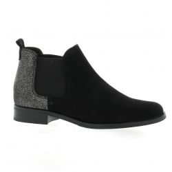 So send Boots velours lamine noir