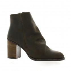 Chio Boots cuir nubuck marron