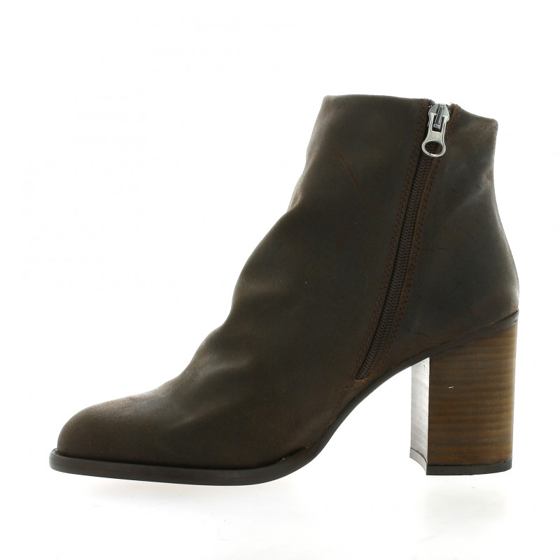 Marron Cuir 5817 Chaussures Nubuck Chio Boots qR66f0