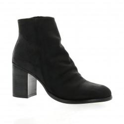 Chio Boots cuir nubuck noir