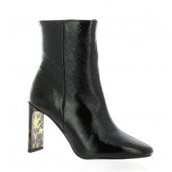 Chio Boots cuir vernis noir