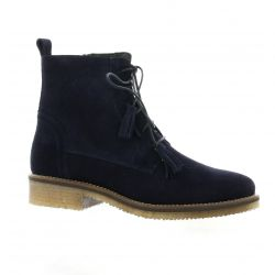 So send Boots cuir velours marine