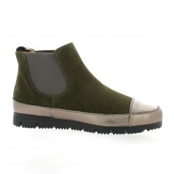 G-max Boots cuir velours kaki