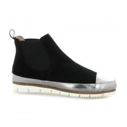 G-max Boots cuir velours noir