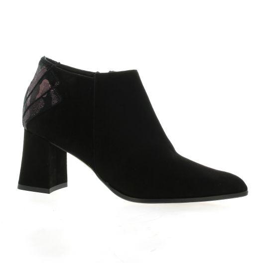 Elizabeth stuart Boots cuir velours noir/bordeau
