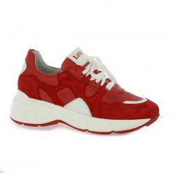 Life Baskets cuir velours rouge
