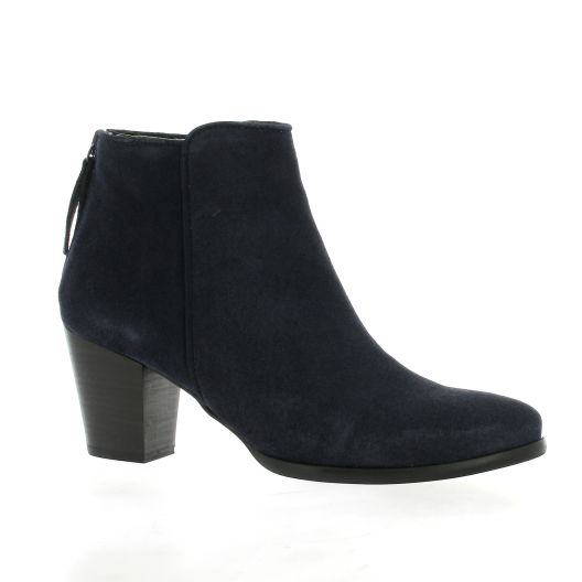 Mkd Boots cuir velours marine