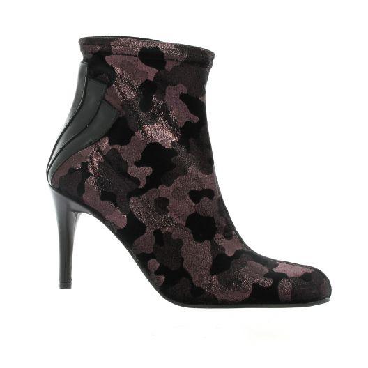 Elizabeth stuart Boots velours lamine noir