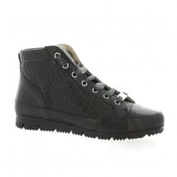 G-max Baskets cuir serpent noir