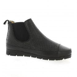 G-max Boots cuir serpent noir