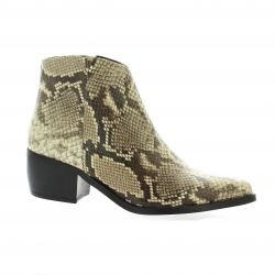 Pao Boots cuir python naturel