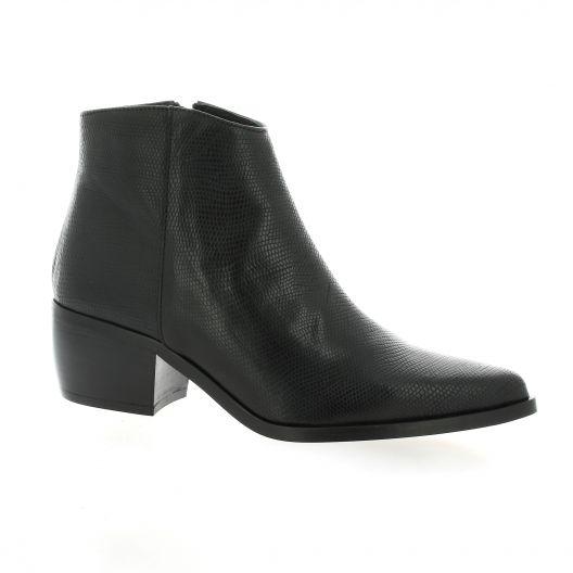 Pao Boots cuir python noir