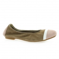 Reqins Ballerines cuir velours poudre