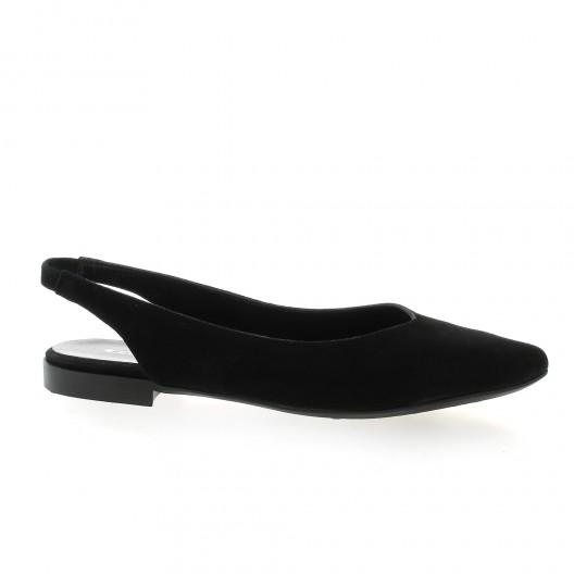 Reqins Ballerines cuir velours noir