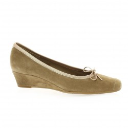Reqins Ballerines cuir velours naturel