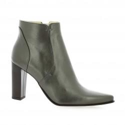 Vidi studio Boots cuir laminé bronze