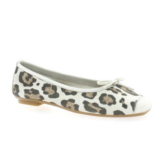4fd7192fb5e Ballerines Reqins chaussures cuir velours léopard clair Harmony