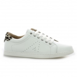 So send Baskets cuir blanc/dalmatien