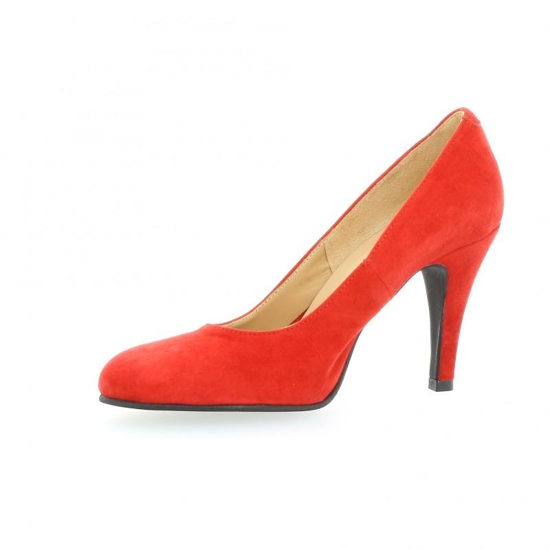 Escarpins Rouge Velours