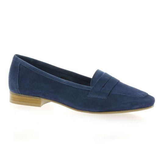 We do Mocassins cuir velours bleu