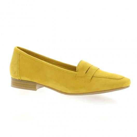 We do Mocassins cuir velours jaune