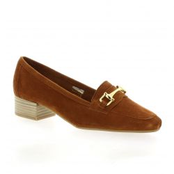 We do Mocassins cuir velours cognac