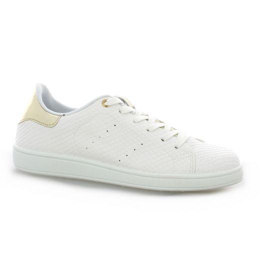 new styles 99920 ef449 Floyd Cuir Baskets Reqins Chaussures Blanc Aawnq46fI