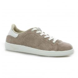 Reqins Baskets cuir taupe