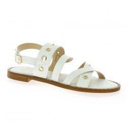 Exit Nu pieds cuir blanc