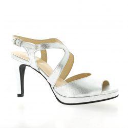 Brenda zaro Nu pieds cuir argent