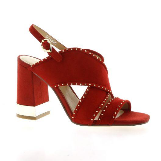 Bruno premi Nu pieds cuir velours rouge