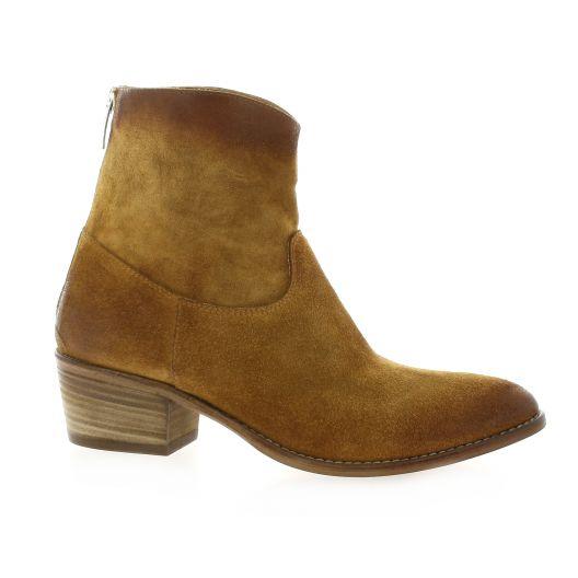 Pao Boots cuir velours cognac