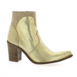 Pao Boots cuir laminé doré