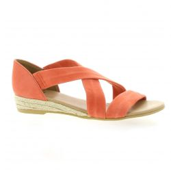 Exit Nu pieds cuir velours orange