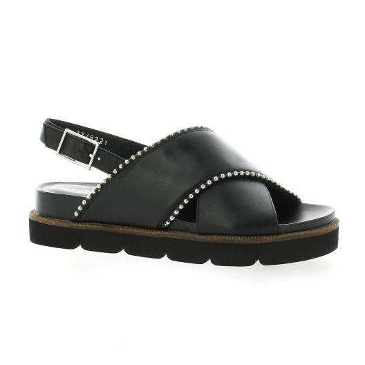 Adele dezotti Nu pieds cuir noir