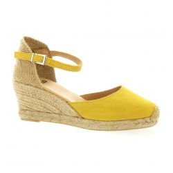 Pao Espadrille cuir velours ocre