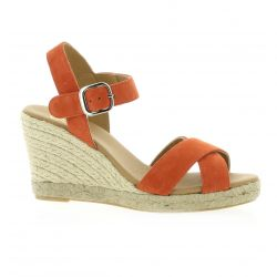 Pao studio Espadrille cuir velours orange