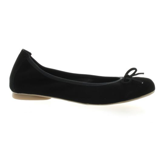 Latina Ballerines cuir velours noir
